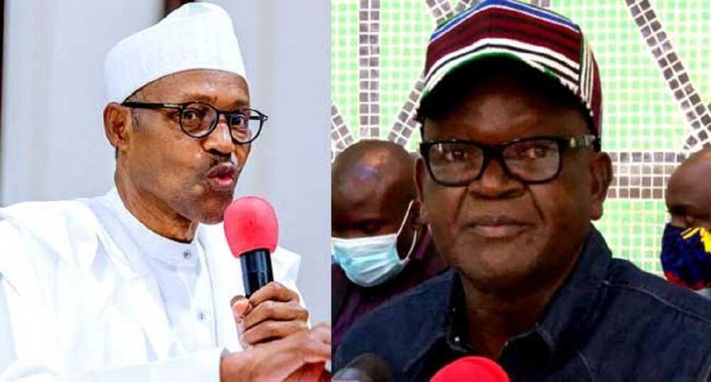 Tsaron kasa: Buhari ya fusata, yace Ortom baya ganin laifinsa, na wasu yake hange
