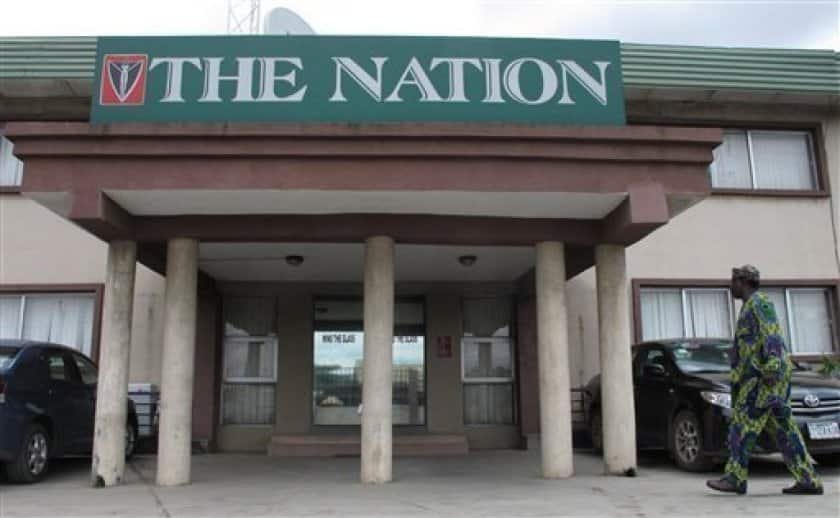 EndSARS: Hoodlums set The Nation Newspaper office on fire