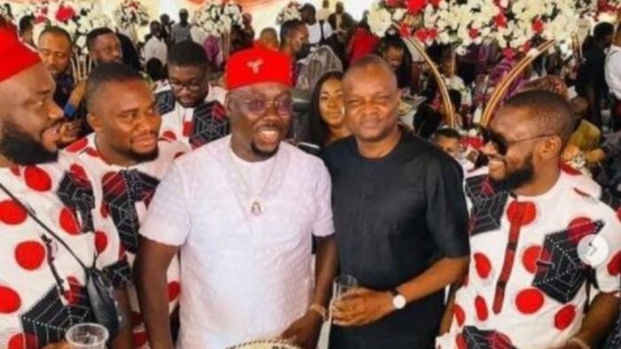 Highly respected senior police officer turns up in Anambra as 'naira rains' at Obi Cubana's mum's burial