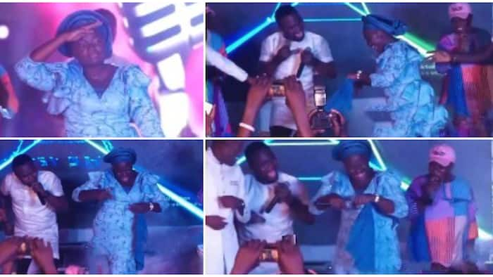Oniduro singer Yinka Alaseyori stuns crowd as she does the palliative dance in old video that resurfaced