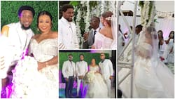 Photos, videos from Ultimate Love housemates Double Chris' wedding, Nigerians congratulate them