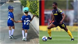 Proud father Mikel Obi shares video of his adorable twins rocking Chelsea jersey