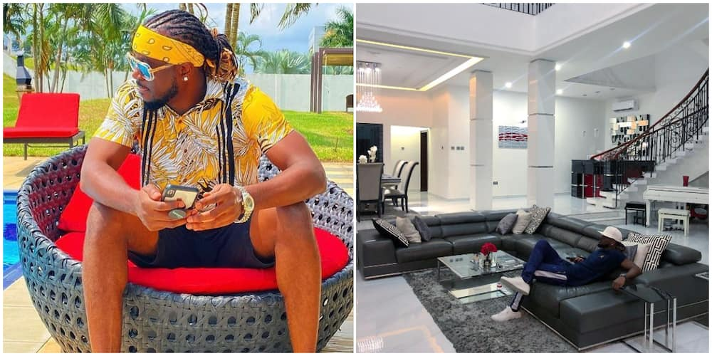 Singer Paul Okoye puts his lavishly furnished living room on full display