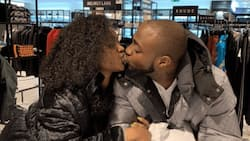 See viral photo of lovebirds Chioma and Davido sharing a passionate kiss as they reunite in London