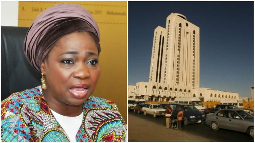A collage of Abike Dabiri and a random picture of Tripoli. Photo source: BusinessDay/GettyImages