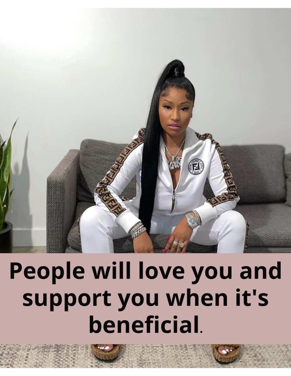 Nicki Minaj kutipan tentang cinta