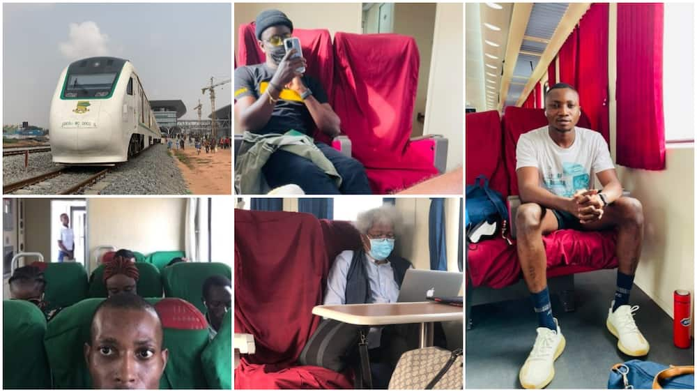 BuhariTrain: Nigerians share photos as they patronize newly launched Lagos to Ibadan train