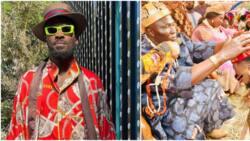 Singer Dbanj congratulates his friend Damian Okoroafor as he bags chieftaincy title in Imo