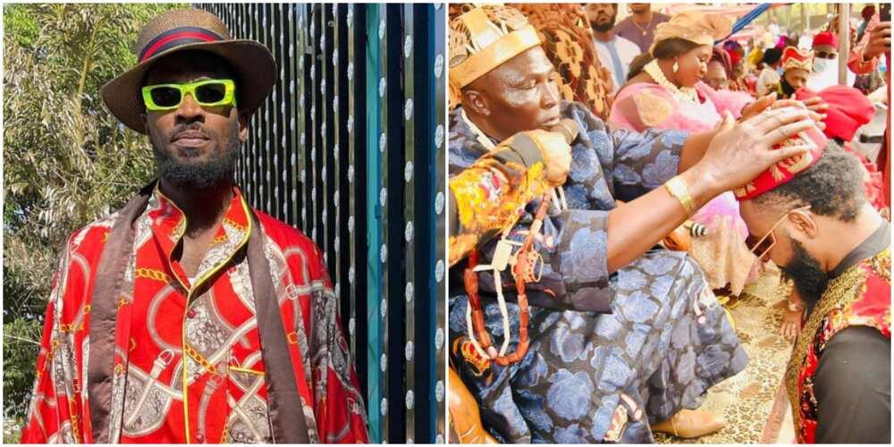 Dbanj celebrates as friend Damian Okoroafor bags chieftaincy title in Imo (photos)