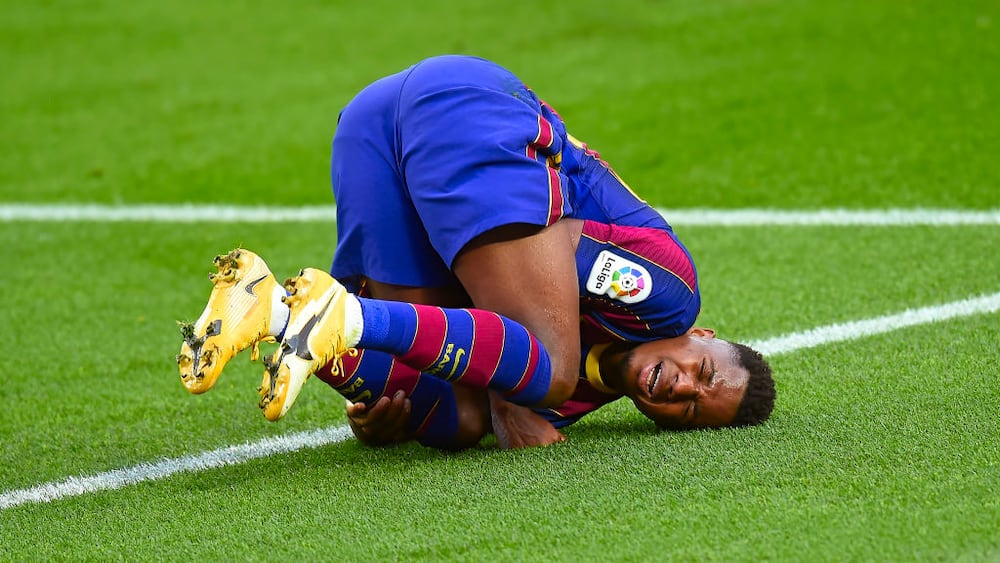 Ansu Fati suffers knee injury during Barcelona's 5-2 win over Real Betis