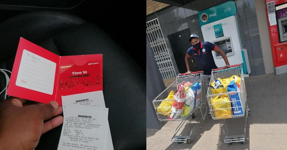 Man saves up R4 500 in 12 months to splurge on parent's groceries
