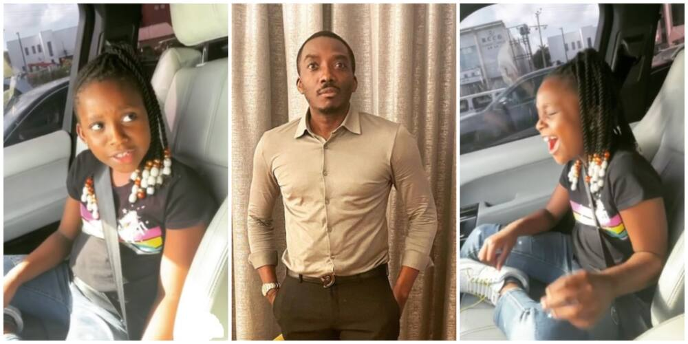 Hilarious Video of Bovi's Daughter Bursting into Laughter after Comedian Said He was Broke