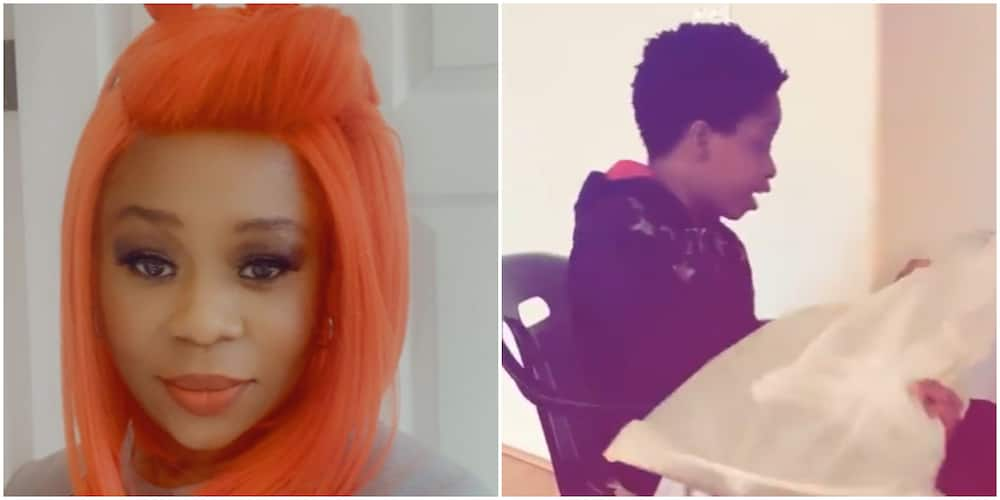 9ice's ex-wife, Toni Payne gifts their son a guitar for Christmas (video)