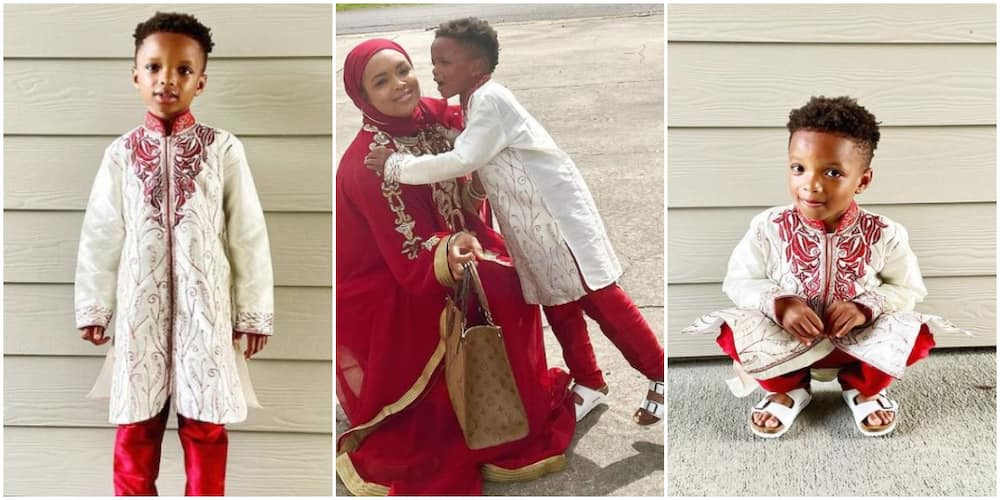 Young Alhaji: Wizkid's Lookalike 2nd Son Shares Dashing Photos As He Dresses Up for Eid-el-Fitr