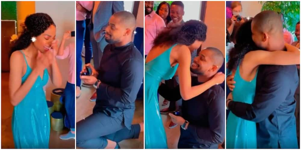 Adorable Moment Alex Ekubo's Bae Burst Into Tears After Actor Asked Her to Be His Wife