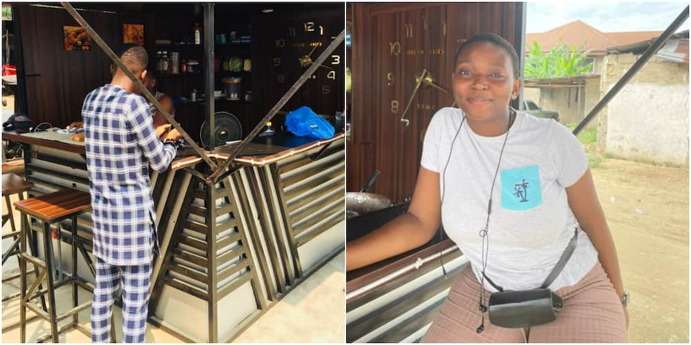 This is Awesome: Massive Reactions as Nigerian Lady Opens Food Kiosk and Asks Social Media Users for Patronage