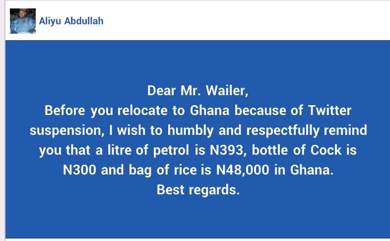 Kafin ku koma Ghana saboda Twitter, buhun shinkafarsu N48,000 ne, Hadimin Aisha Buhari