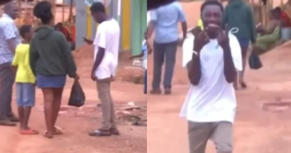 Boy takes girl's number in front of her father