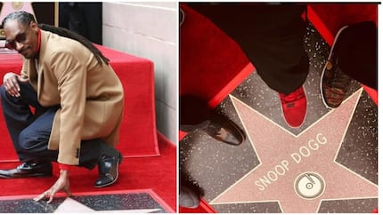 I want to thank me for believing in me - Snoop Dogg says as he receives a star on Hollywood Walk of Fame (photos)