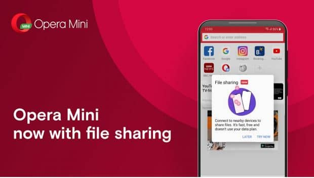 Opera Mini becomes the first browser to introduce offline file sharing apps