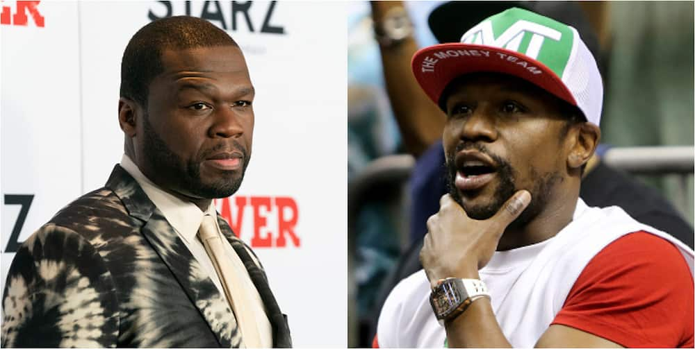 American rapper 50 Cent responds to Mayweather challenge to a boxing match
