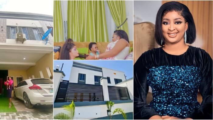 I prayed for a child and a home: Actress Etinosa shares photos as she becomes Lagos landlady