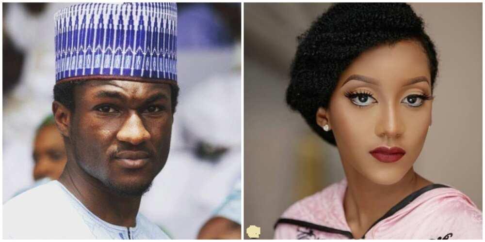 Photos of Yusuf Buhari and Princess Zahra.