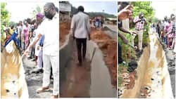 Days after man made viral video about bad road in Edo, govt takes swift action, orders arrest