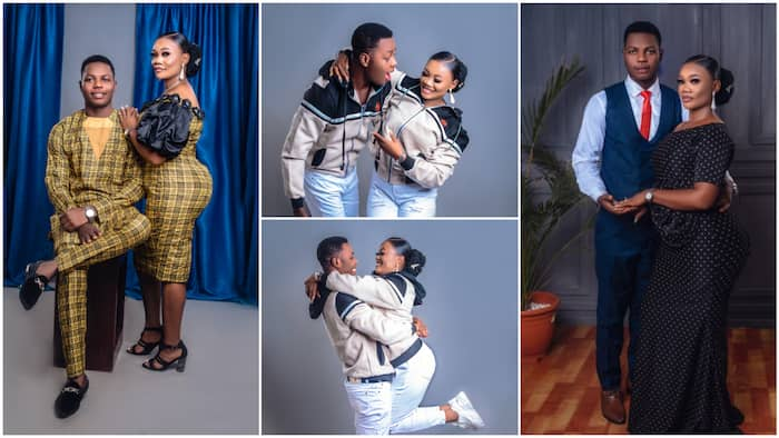 Nigerian couple make big fashion statement with stylish pre-wedding photos showing nice outfits, many react