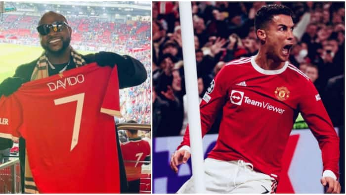 Manchester United FC celebrates Davido's visit to Old Trafford in their dramatic Champions League comeback win