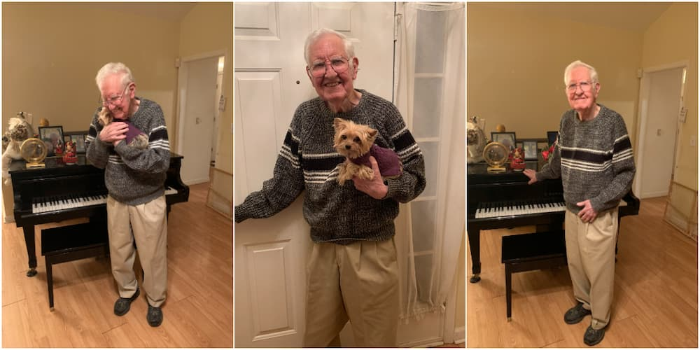 90-year-old man lights warms people's hearts with adorable birthday photos