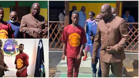 18-year-old school dropout who returned N20m he found on road gets N4m, scholarship and job from the president