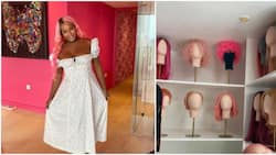 Real life Barbie doll: DJ Cuppy speaks on room dedicated to her almost 40 pink wigs in new UK penthouse