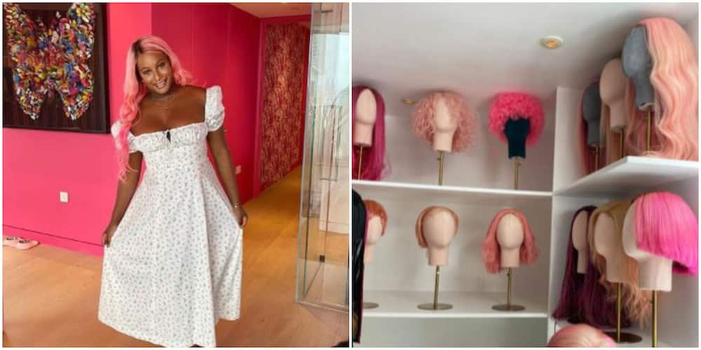 Real Life Barbie Doll: DJ Cuppy Speaks on Pink Room Dedicated to Her Over 40 Wigs in New UK Penthouse