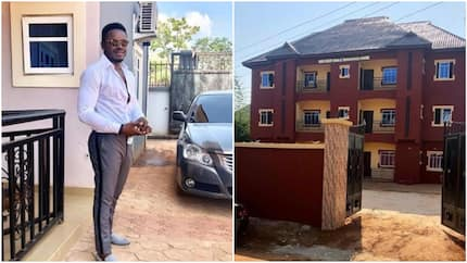 Famous Nollywood actor shows off his recently built house, dedicates it to his father (photos)