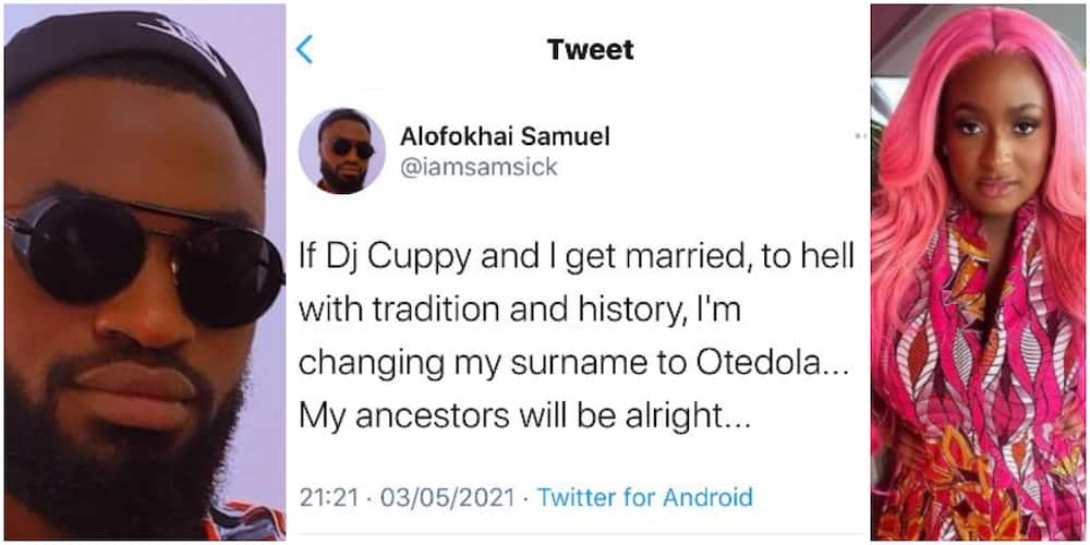 If DJ Cuppy and I Get Married, I'm Changing My Surname to Otedola, Nigerian Man Says, Fans React