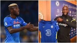 Huge surprise as Chelsea legend names Super Eagles striker as Lukaku's 'heir'