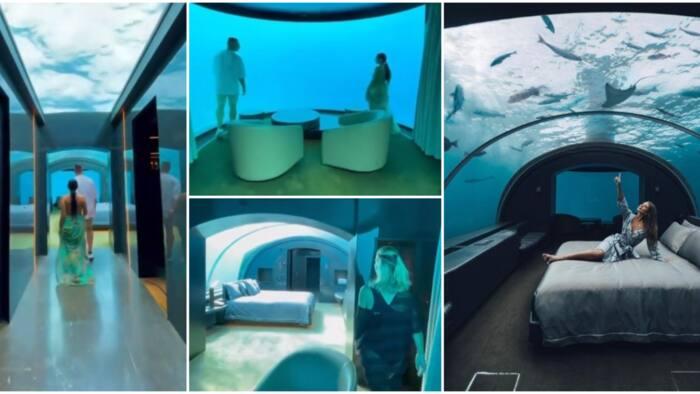 Video of underwater hotel room that costs N28m to sleep in per night goes viral, Nigerians express surprise