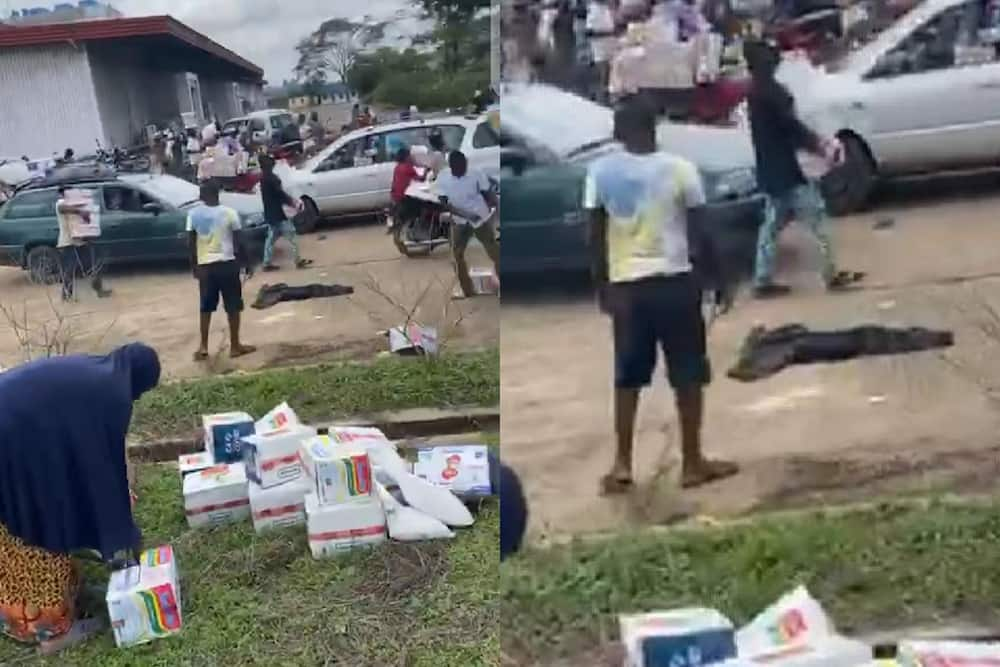 EndSARS: Residents of Osun break into warehouse, loot state's COVID-19 palliatives