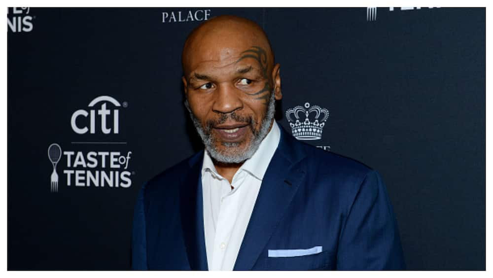 Mike Tyson spotted training on the road ahead of Jones exhibition fight