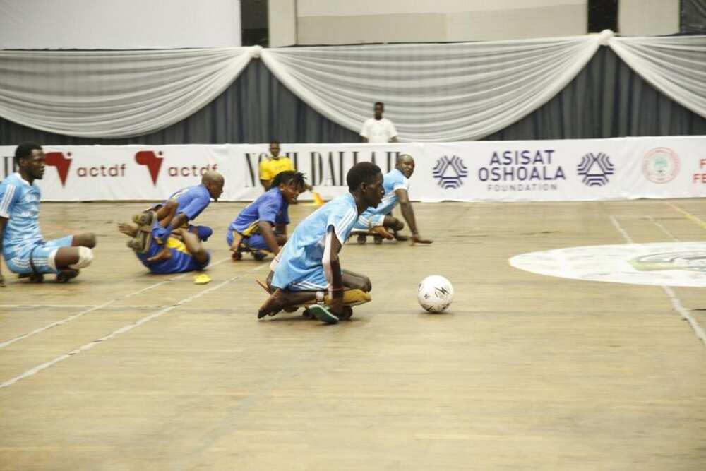 Action at the Girls and Para Soccer Championship