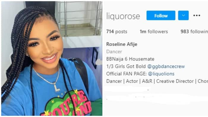 BBNaija: Liquorose breaks record, becomes first housemate ever to hit 1m followers