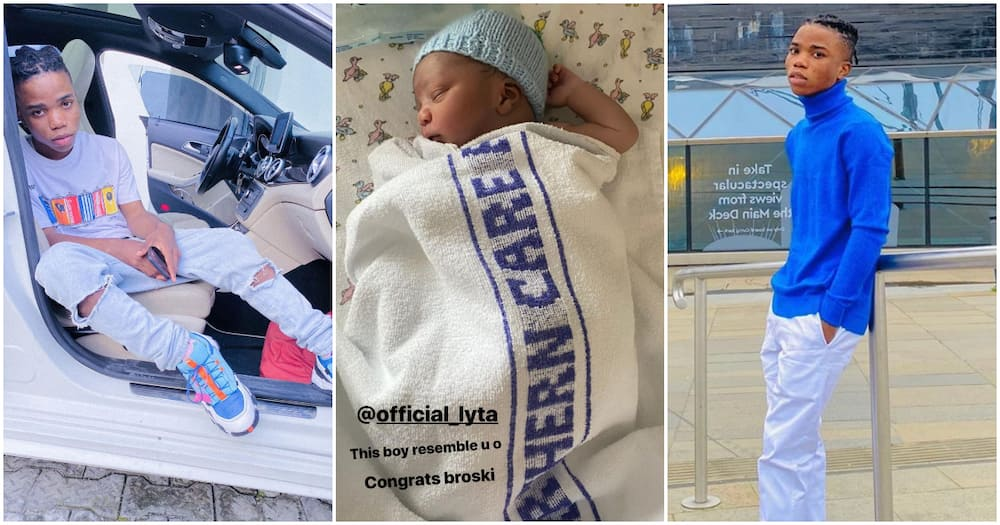 Young singer Lyta becomes a baby daddy as he welcomes first child (photo)