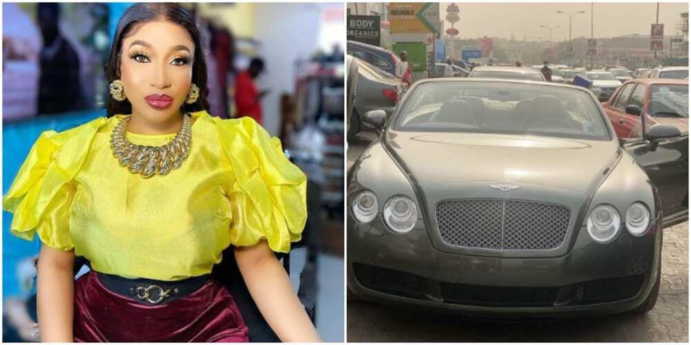Actress Tonto Dikeh buys new Bentley (photos)