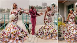 Pretty Nigerian lady denies claims that she rocked an Ankara wedding gown because she didn't have money