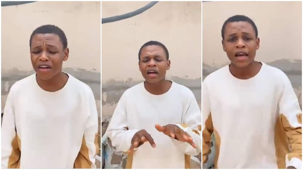 After performing cover of Wizkid's track, young man wows Nigerians again, dedicate new song to women