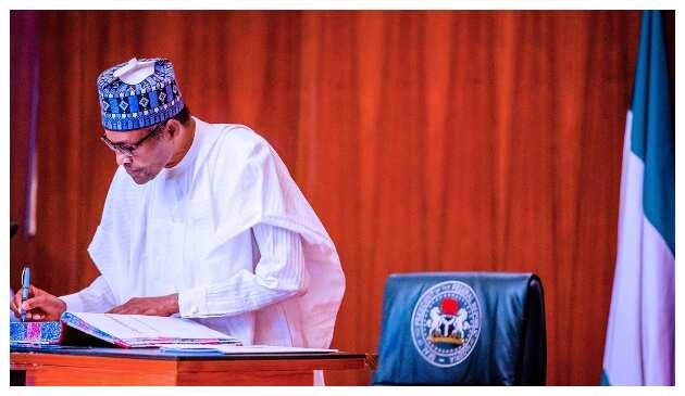 President Buhari swears in 4 new permanent secretaries