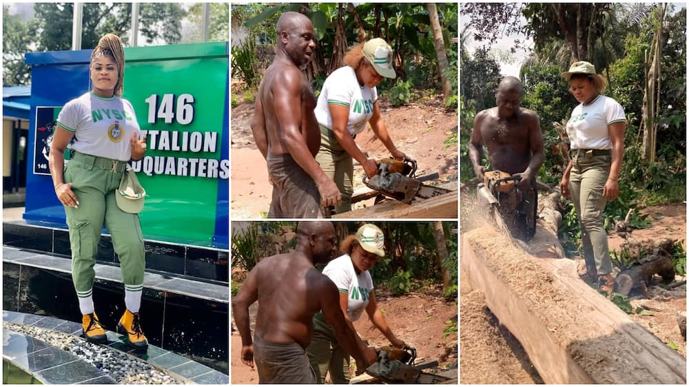 Corper appreciates dad who sells woods to fund her education, shares photos