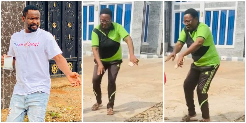 Heartwarming video of actor Zubby Michael's mother busting traditional dance moves