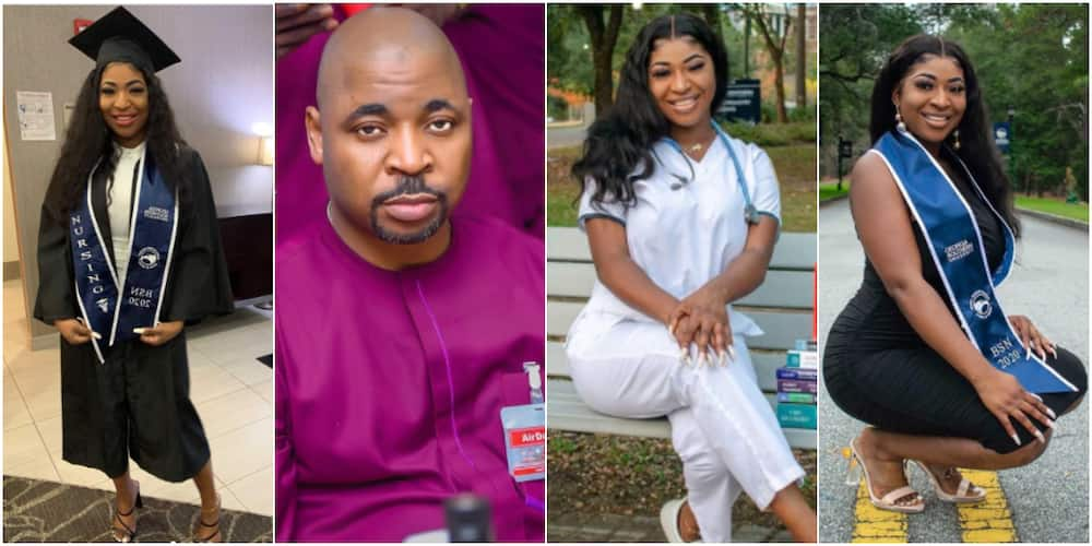 MC Oluomo's daughter bags nursing degree in US